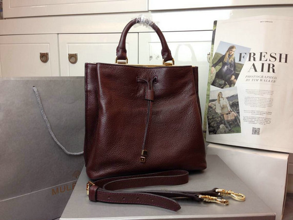 2014 Autumn/Winter Mulberry Small Kensington Bag in Oxblood Grained Leather