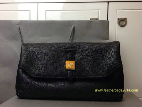 2014 Fall/Winter Mulberry Tessie Clutch in Black Soft Grain Leather