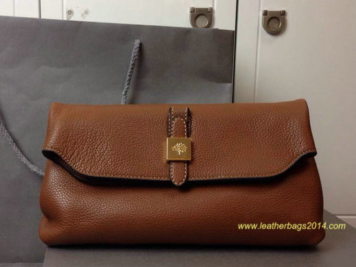Free Gift for order amount over 350GBP-Mulberry Tessie Clutch in Oak Soft Grain Leather