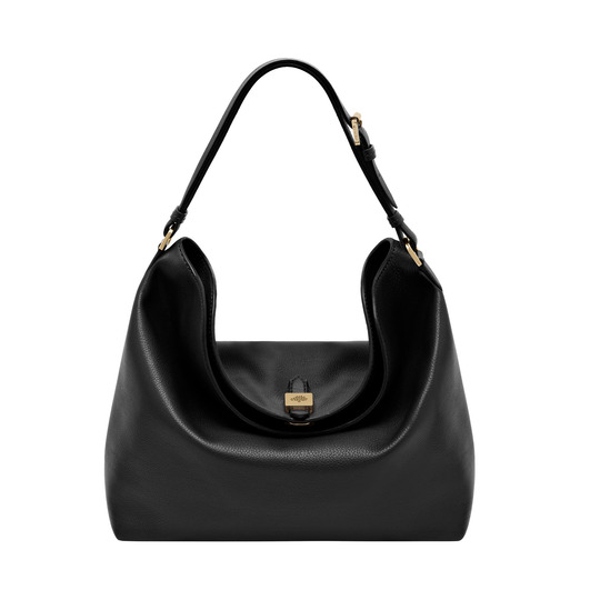 2014 Latest Mulberry Tessie Hobo in Black Soft Small Grain