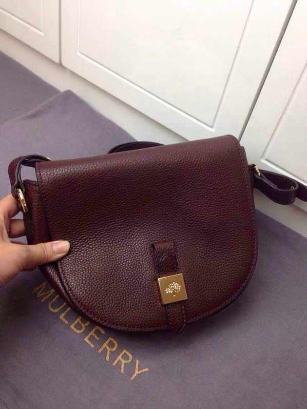 2014 Latest Mulberry Tessie Small Satchel in Oxblood Soft Leather
