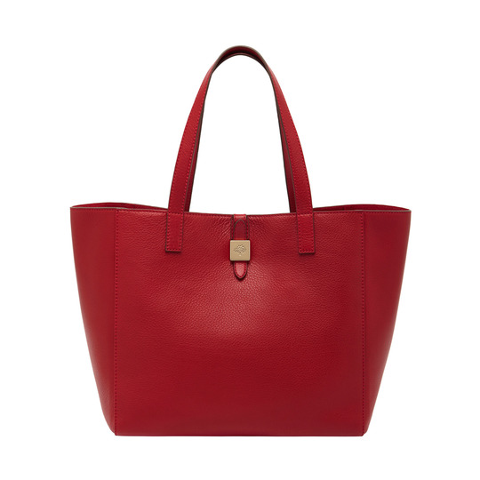 2014 Latest Mulberry Tessie Tote in Poppy Red Soft Leather
