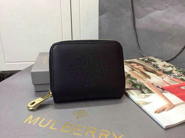 2015 Latest Mulberry Blossom Zip Around Purse 312332 in Black