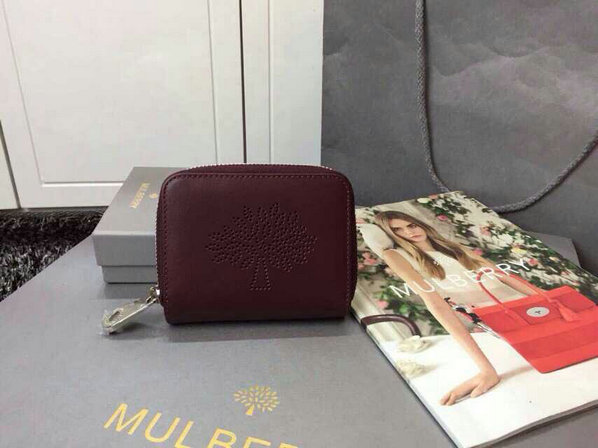 2015 Latest Mulberry Blossom Zip Around Purse 312332 in Oxblood