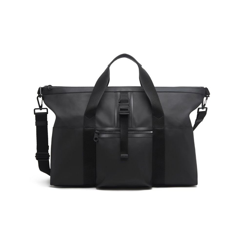 2015 Men's Mulberry Fleet Holdall Charcoal Coated Canvas