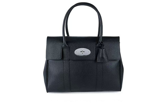 2015 New Mulberry Bayswater Black Small Classic Grain with Nickel