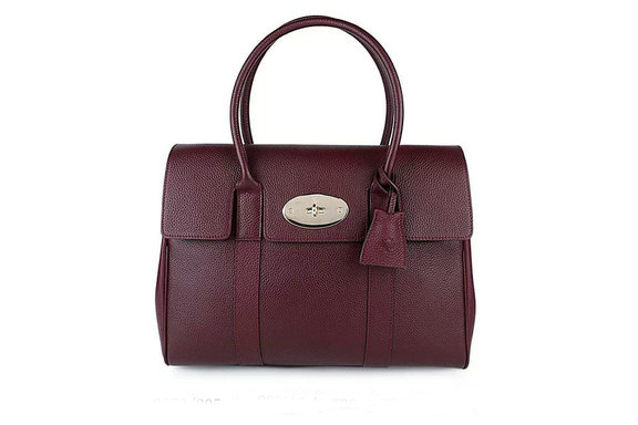 2015 New Mulberry Bayswater Oxblood Small Classic Grain with Soft Gold