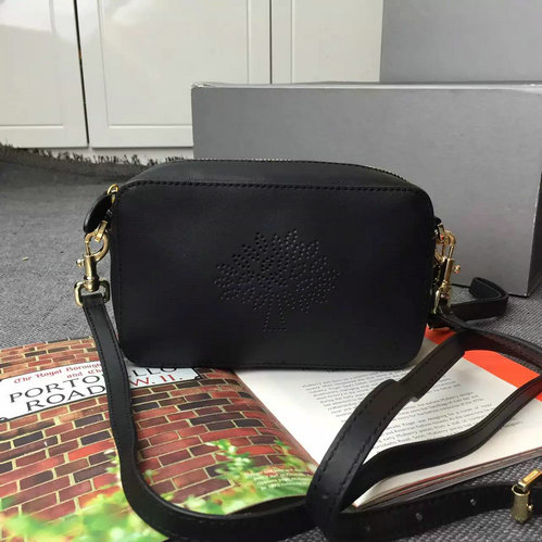 2015 Latest Mulberry Blossom Pochette With Strap Black Calf Nappa