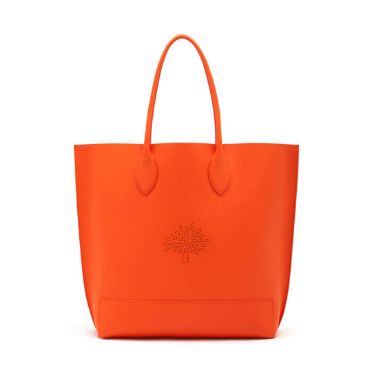 2015 Spring/Summer Mulberry Blossom Tote Bag in Mandarin Calf Nappa Leather