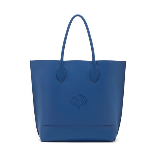 2015 Spring/Summer Mulberry Blossom Tote Bag in Sea Blue Calf Nappa Leather