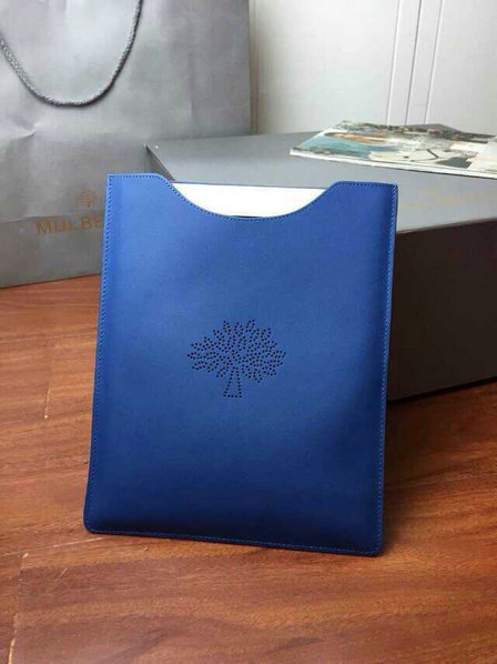2015 Latest Mulberry Blossom iPad Cover in Sea Blue Leather