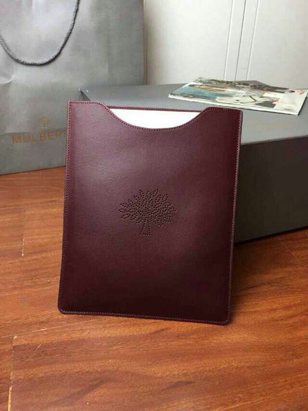 2015 Latest Mulberry Blossom iPad Cover in Oxblood Leather
