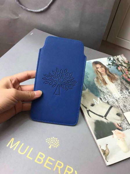 2015 Latest Mulberry Blossom iPhone 6 Cover in Sea Blue Leather