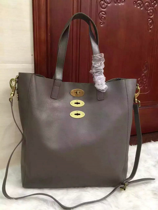 2015 Cheap Mulberry Brynmore Tote Grey Natural Leather