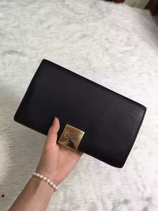 2015 Hottest Mulberry Campden Clutch Bag in Black Leather
