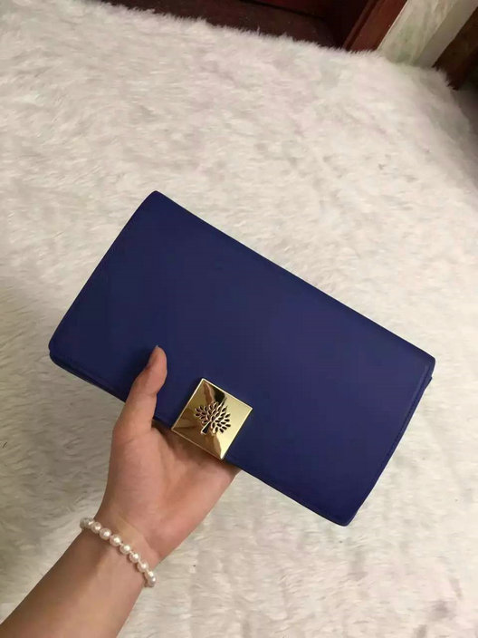 2015 Hottest Mulberry Campden Clutch Bag in Blue Leather