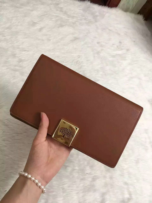 2015 Hottest Mulberry Campden Clutch Bag in Oak Leather