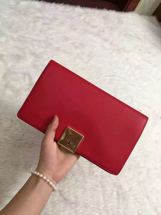 2015 Hottest Mulberry Campden Clutch Bag in Red Leather