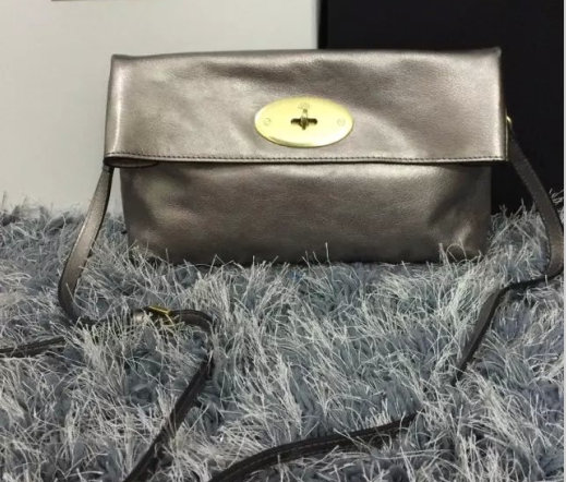 2015 Cheap Mulberry Clemmie Clutch MF0553 in Silver Leather