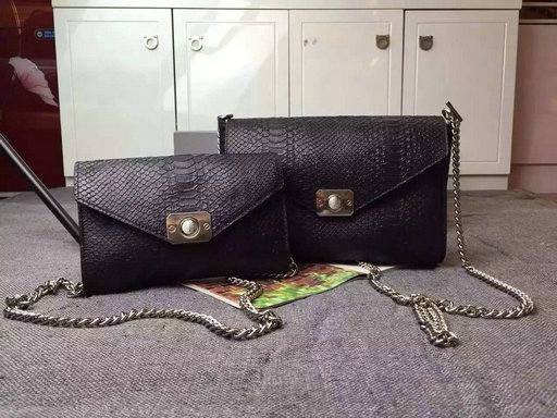 2015 Cheap Mulberry Delphie Bag Black Snake Leather