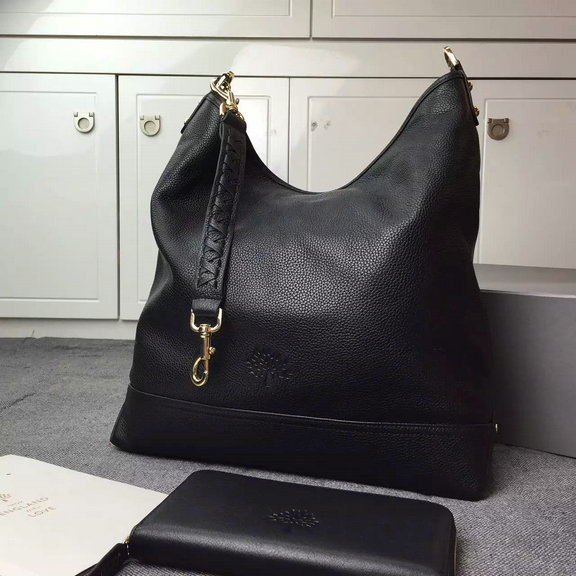 2015 Cheap Mulberry Small Effie Hobo Black Spongy Pebbled Leather