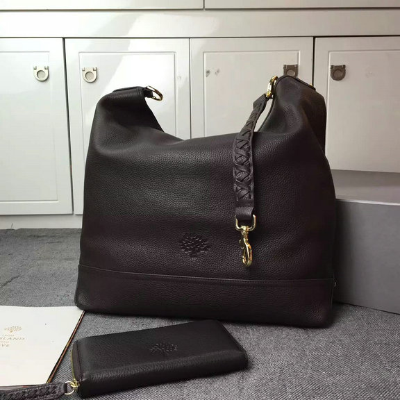 2015 Cheap Mulberry Small Effie Hobo Chocolate Spongy Pebbled Leather