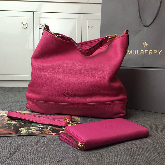 2015 Cheap Mulberry Small Effie Hobo Mulberry Pink Spongy Pebbled Leather