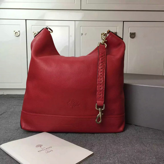 2015 Cheap Mulberry Small Effie Hobo Red Spongy Pebbled Leather