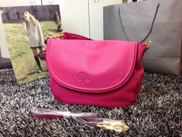Latest Mulberry Effie Satchel Fuchsia Spongy Pebbled