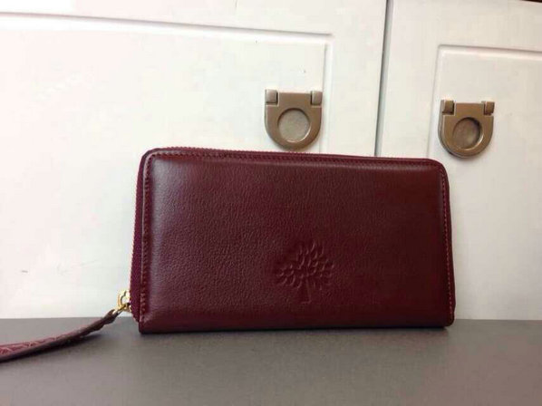 2015 Mulberry Effie Zip Around Purse in Oxblood Spongy Pebbled Leather