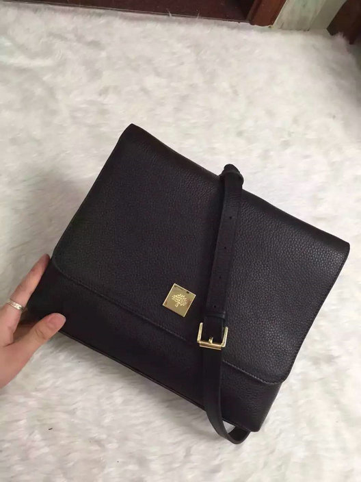 2015 A/W Mulberry Freya Satchel Bag in Black Leather