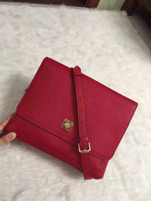 2015 A/W Mulberry Freya Satchel Bag in Red Leather