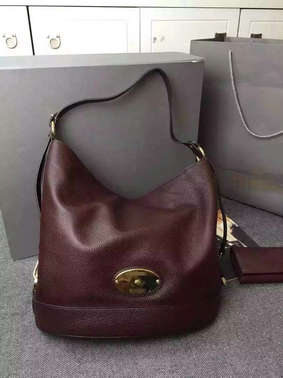 2015 Fall/Winter Mulberry Jamie Bucket Bag Oxblood Leather