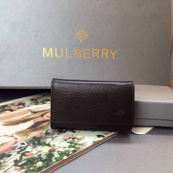 2015 Cheap Mulberry Key Case in Chocolate Natural Leather