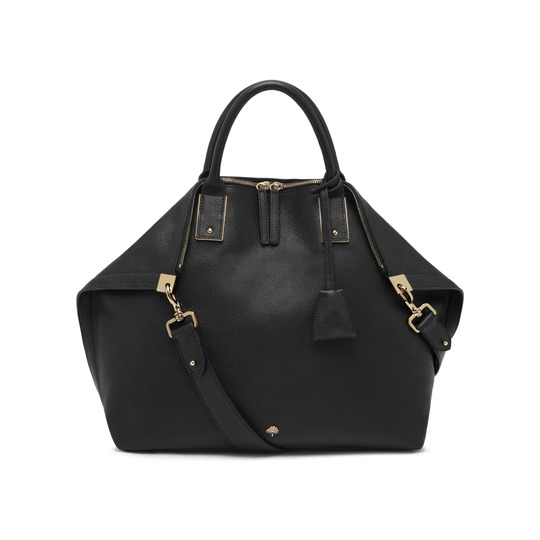 2015 Discount Mulberry Oversized Alice Zipped Tote Black Small Grain Leather