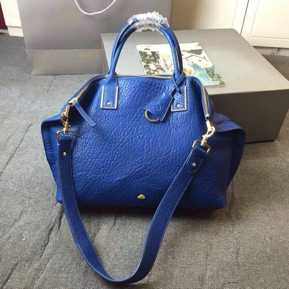 2015 Discount Mulberry Oversized Alice Zipped Tote Sea Blue Shrunken Calf