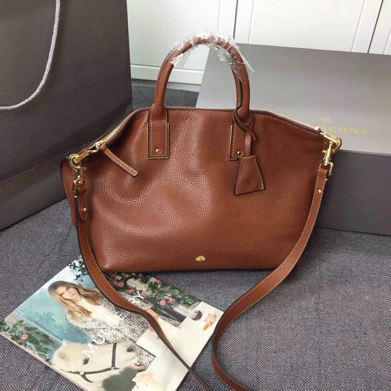 2015 Discount Mulberry Oversized Alice Zipped Tote Brown Small Grain Leather