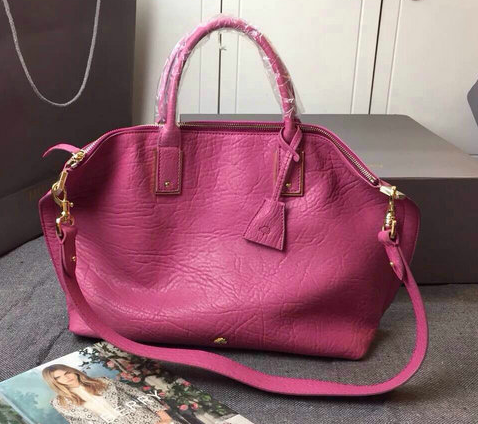 2015 Discount Mulberry Oversized Alice Zipped Tote Hot Pink Shrunken Calf