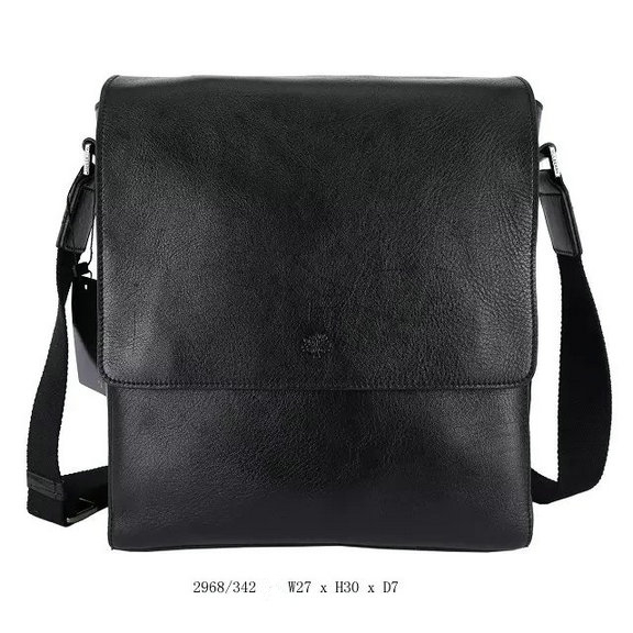 2015 New Mulberry Maxwell Slim Messenger Bag Black Leather for Men