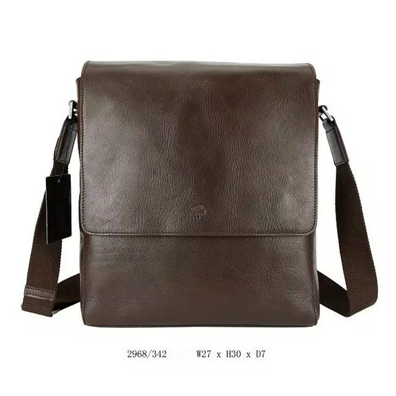 2015 New Mulberry Maxwell Slim Messenger Bag Chocolate Leather for Men