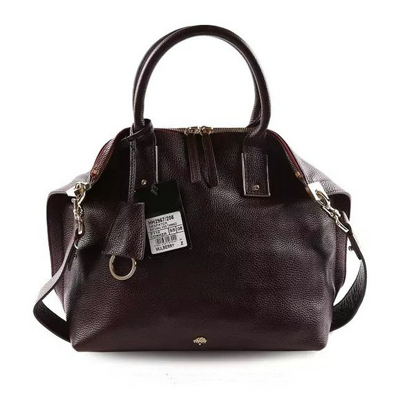 2015 Mulberry Alice Zipped Tote Oxblood Small Grain Leather