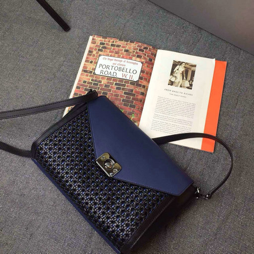 2015 Cheap Mulberry Delphie Duo Colour Woven Leather