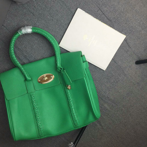 2015 New Mulberry Pembridge Bayswater Bag Green Small Grain Leather