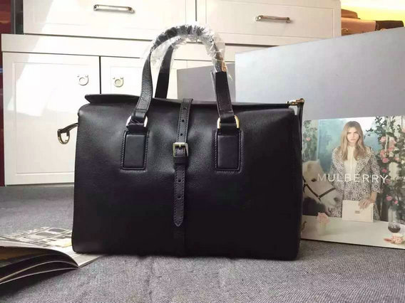 2015 Fall/Winter Mulberry Roxette Satchel Bag in Black Leather