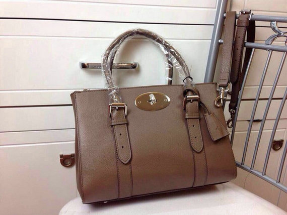 2015 Latest Mulberry Small Bayswater Double Zip Tote in Taupe