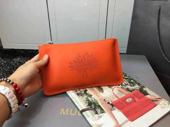 2015 Spring/Summer Mulberry Small Blossom Zip Pouch in Mandarin Calf Nappa Leather