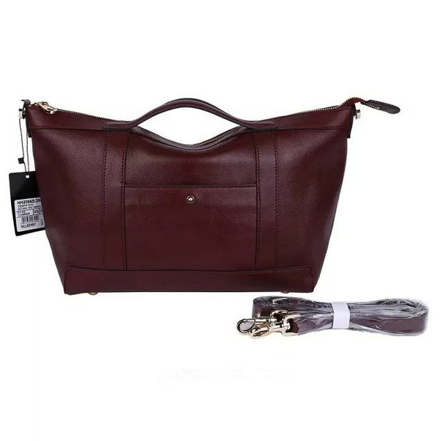2015 Men's Mulberry Small Multitasker Holdall Oxblood Leather