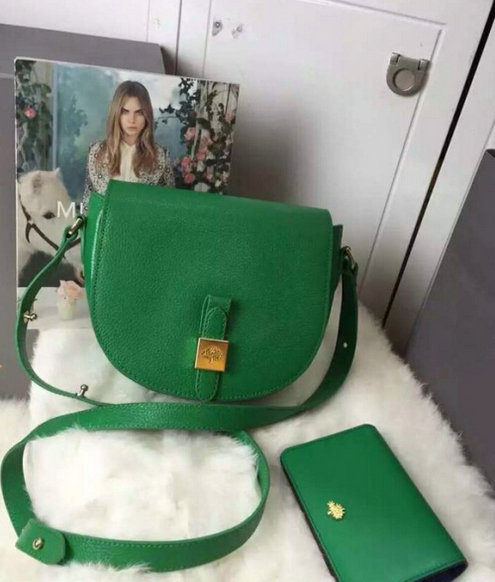 2015 New Mulberry Tessie Small Satchel in Jungle Green Soft Leather