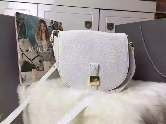 2015 New Mulberry Tessie Small Satchel in Cream Soft Leather