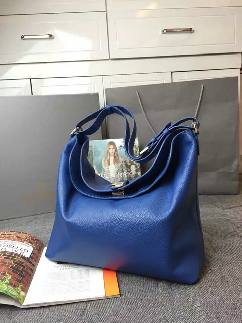 2015 Latest Mulberry Tessie Hobo in Sea Blue Soft Small Grain